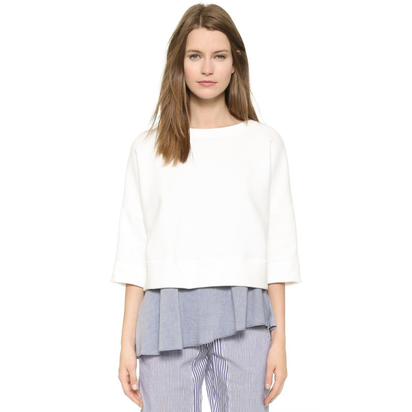Derek Lam 10 Crosby Women's 2 in 1 Sweatshirt with Tank