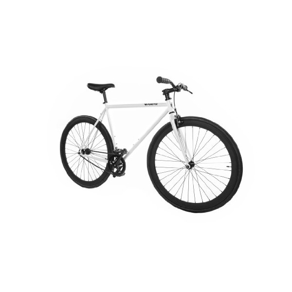 Pure Fix Cycles Fixed Gear Single Speed Urban Fixie Road Bike, 58cm/ Large, Quebec White/ Black