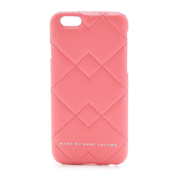 Marc by Marc Jacobs iPhone 6 Crosby Quilted Case, Spring Peach Multi (888877511184)