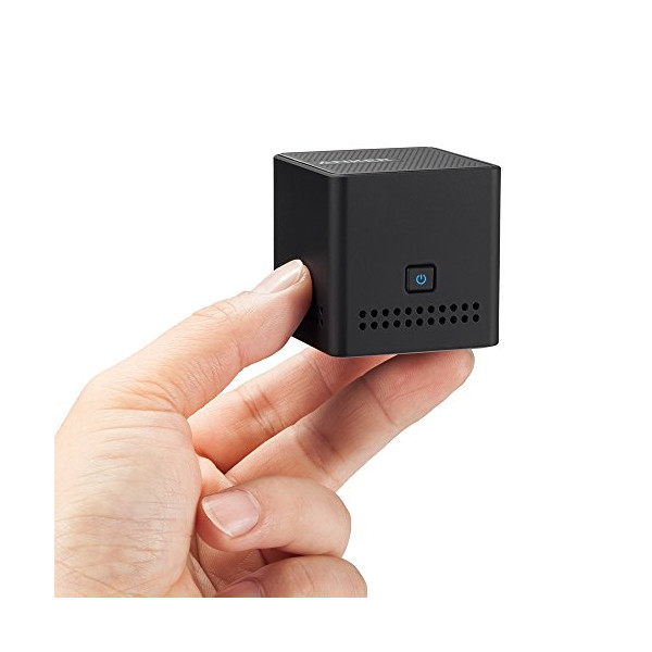 Anker® Ultra Portable Pocket Size Wireless Bluetooth Speaker with 12 Hour Playtime, NFC Compatibility and Ultra Compact Ring Box Size (Black) - A7910
