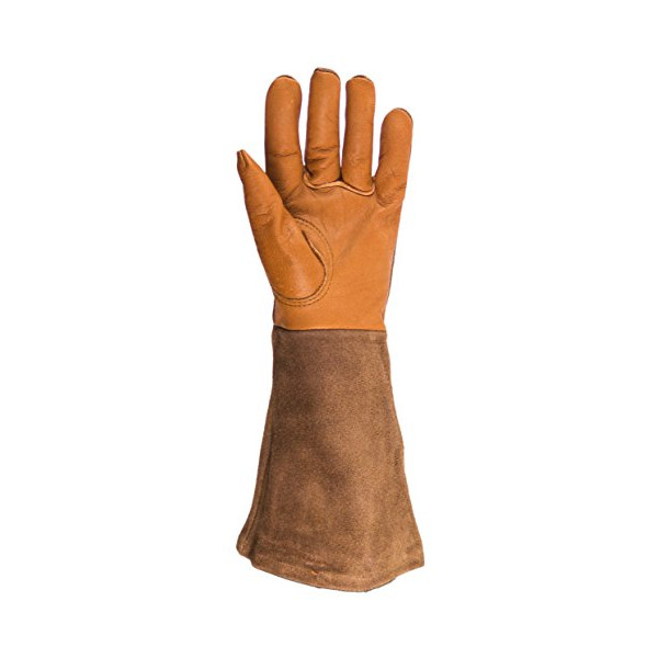 Rose Gardening Strong and Comfortable Brown Leather Gloves