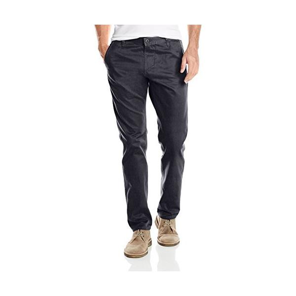 Dockers Men's Alpha Khaki Slim Tapered Flat Front Pant, Grey Heather, 31Wx30L