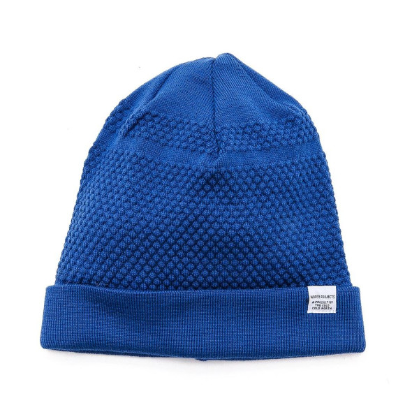 Norse Projects Men's Bubble Knit Beanie, California Blue