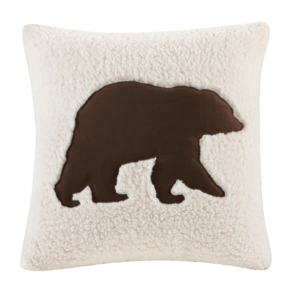 Woolrich Square Pillow, White