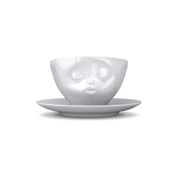 Tassen Face Coffee Cup with Saucer (Kissing)