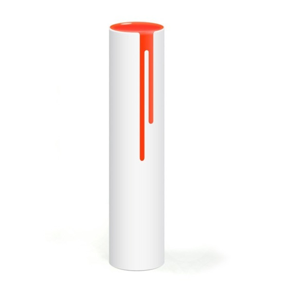 Block Neon Drip Vase, Orange