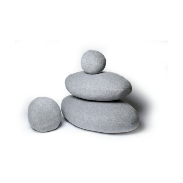Light Gray Living Stone Pillows,Decorative Pillows,Creative Pebble Cushions,Unique Pebble Pillows (4Pcs/Set 3#,4#,5#,6#)