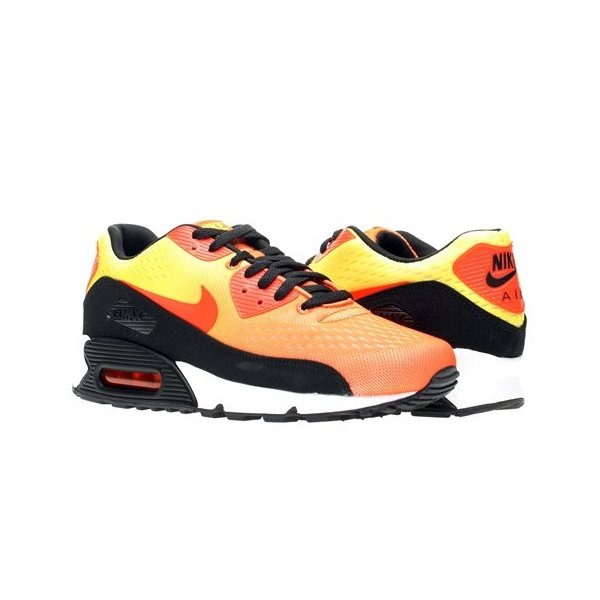 Nike Men's Air Max 90 EM Tm Orange/Tm Orange/Tr Yellow/Blk Running Shoes 9.5 Men US