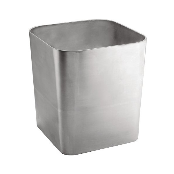 InterDesign Gia Waste Can, Brushed Stainless Steel