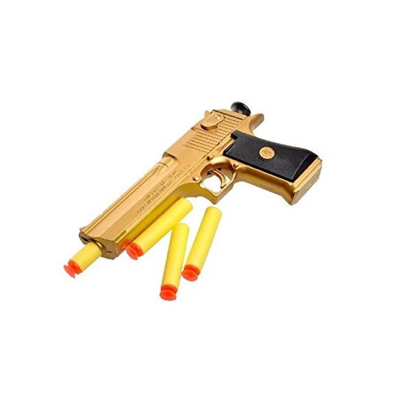 Efbock Desert Eagle Soft Bullet Toy Gun Gold Edition Children'S Simulation Gun Model