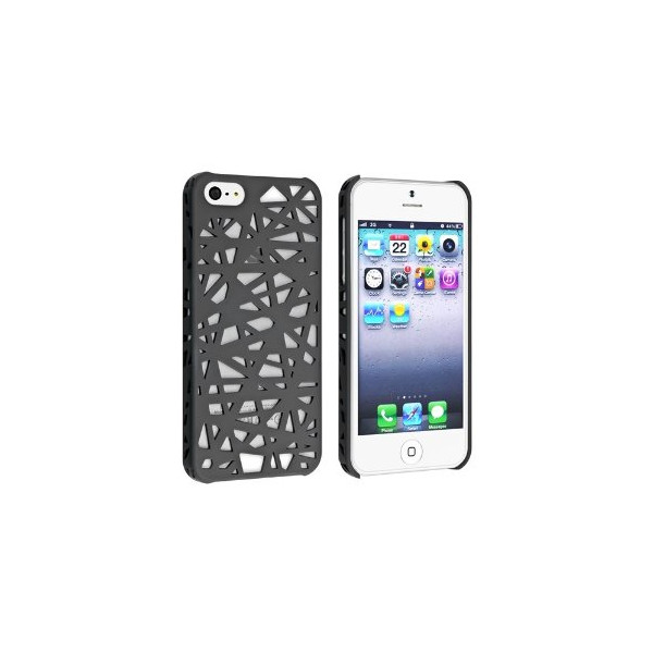 eForCity Snap-on Case Compatible with Apple® iPhone® 5, Smoke Bird Nest Rear