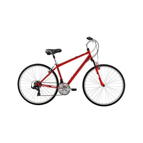 Diamondback Kalamar Complete Hybrid Bike, 19-Inch/Large, Red