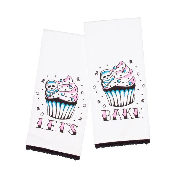 Sourpuss Let's Bake Tea Towel Set