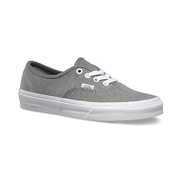 Vans Unisex Authentic (C&C) Skate Shoe (7.5 D(M) US Mens/ 9.0 B(M) US Womens, (Washed 2-Tone) Grey/True White)