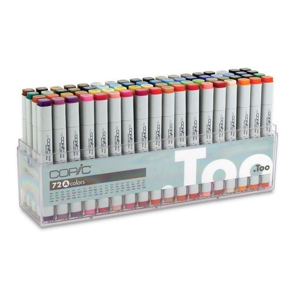 Copic Markers 72, Piece Set A