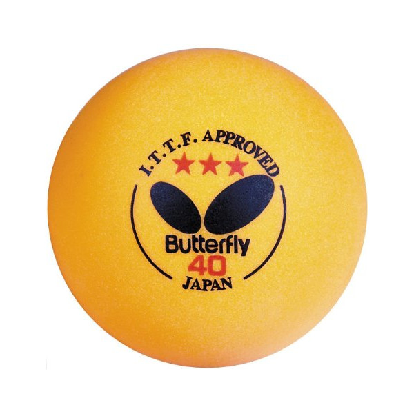 Butterfly ITTF Approved 3-Star 40mm Table Tennis Balls (6-Pack)
