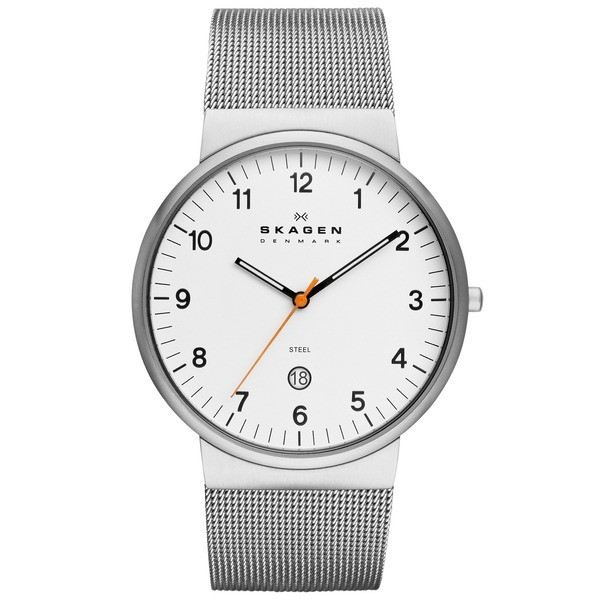 Skagen Klassik Men's Three-Hand Date Stainless Steel Watch