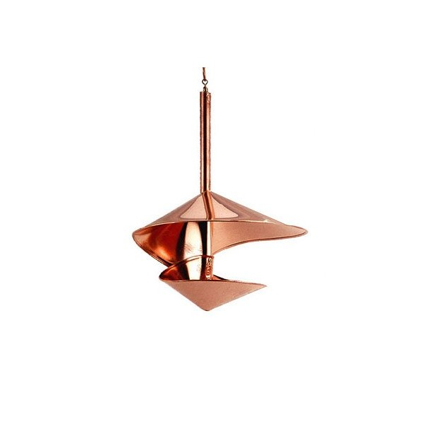"Hanging Bird Feeder ""Copper Spiral"", 10"" Diameter"