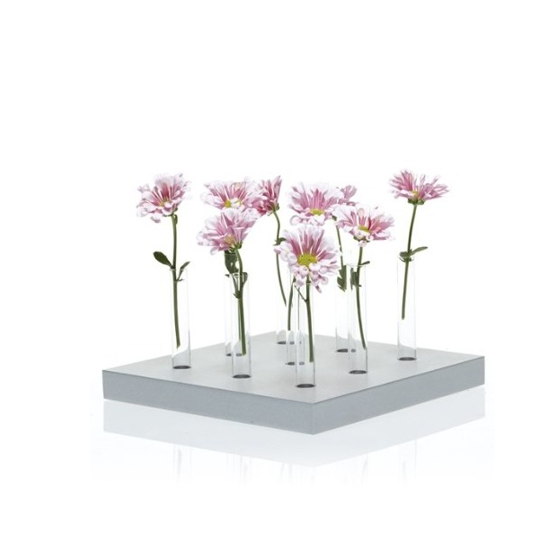 Chive, Calla, 9-Hole, White  Vase