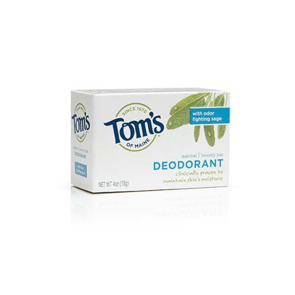Tom's of Maine Moisturizing Bar Deodorant, 4-Ounces Bars, Pack of 6