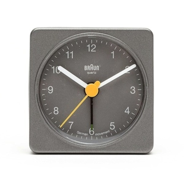 Braun Travel Alarm Clock, Grey