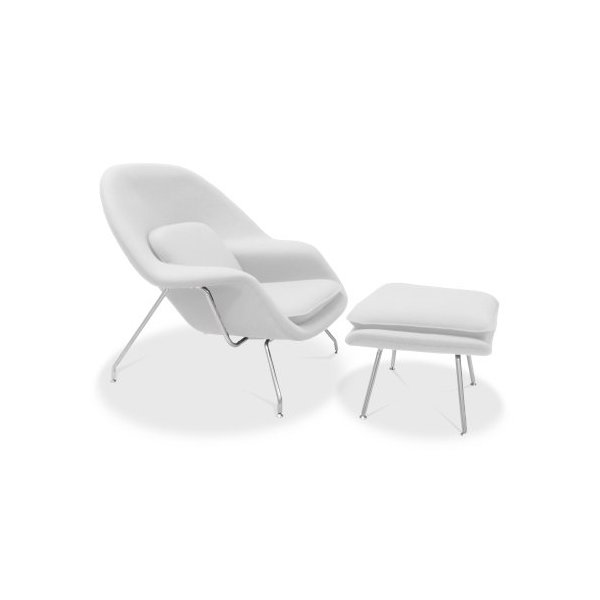 Urban Furnishing - Eero Saarinen Womb Chair & Ottoman