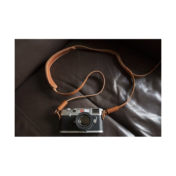 Handmade Genuine Real Leather Camera Strap Neck Strap for Film Camera Evil Camera Brown 01-043