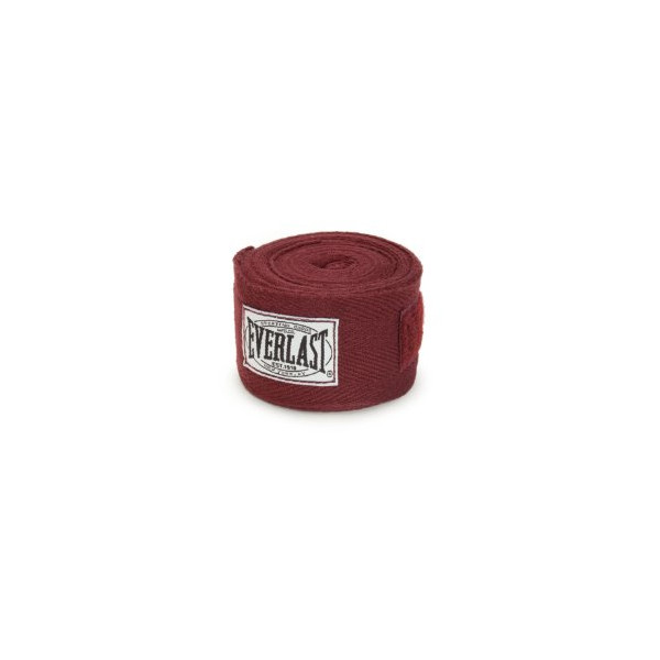 Everlast Muhammad Ali Collection Authentic 108-Inch Cotton Hand Wraps (Maroon)