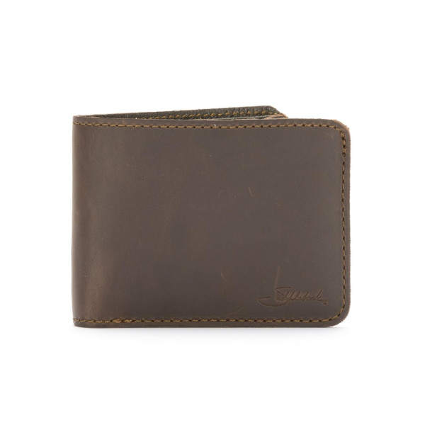 Saddleback Leather Medium Bi-fold Wallet, Dark Coffee Brown