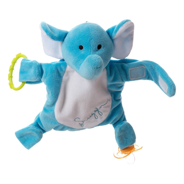 Snuggin - Stuffed Animal Pacifier Holder & Storage All-in-One * Keeps your Baby's Toys Close & Attaches to High Chairs, etc. Store Toys in Snuggin's Storage Pocket. Patent Pend. Grab Snuggin & Go.