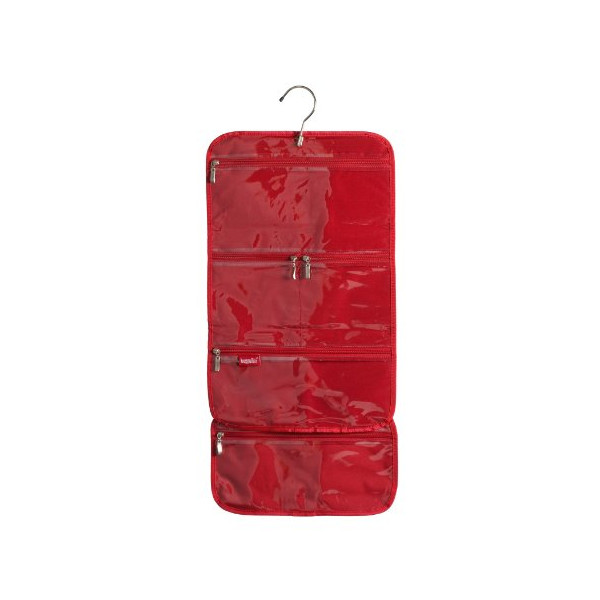 Baggallini Luggage Hanging Cosmetic Bag, Red, One Size