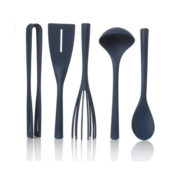 Pantone Universe Nylon Kitchen Tool Set, 5-Piece, Indian Teal