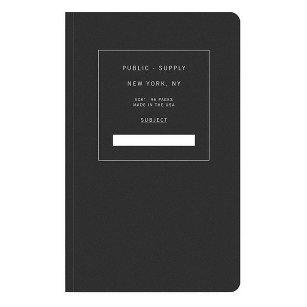 Public Supply Dot Paper Notebook, Black 01