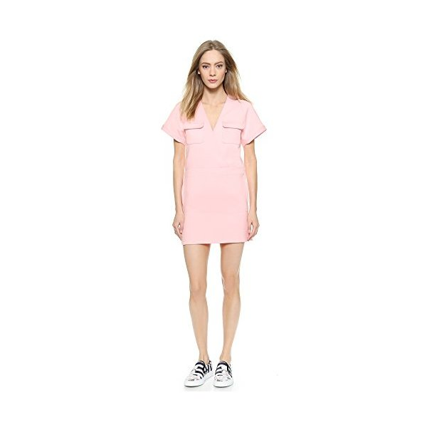 Maison Kitsune Women's Double Face Sky Dress, Pink, 40