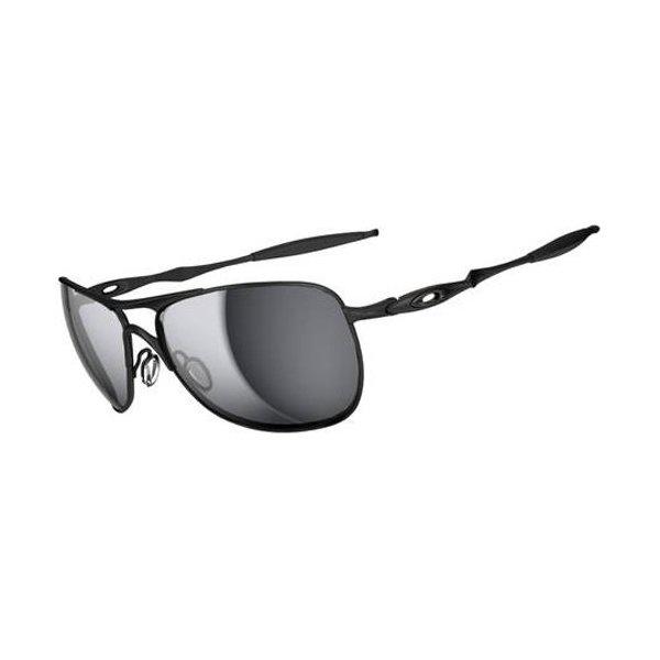 Oakley Mens Crosshair OO4060-03 Iridium Non-Polarized Oval Sunglasses,Matte Black Frame/Black Iridium Lens,one size