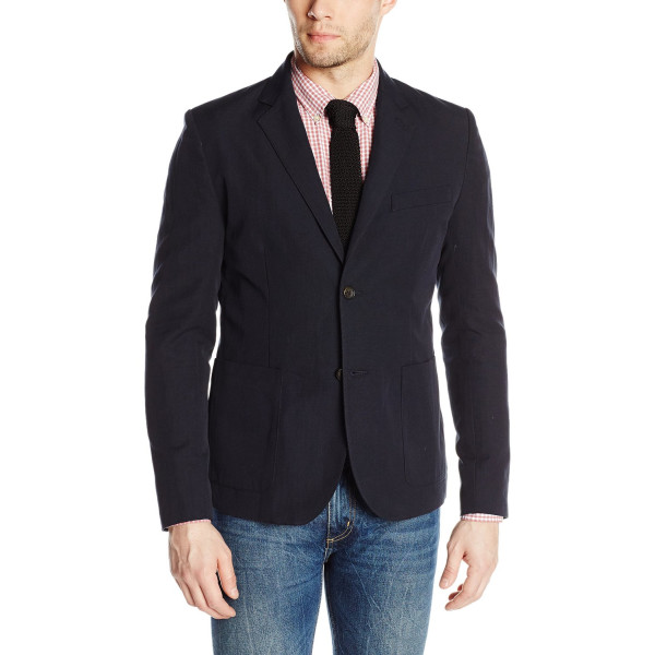 Steven Alan Men's Bucket Pocket Oliver Jacket, Navy, 40