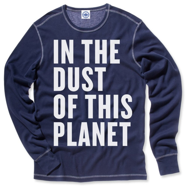 Hank Player 'In The Dust Of This Planet' Men's Thermal T-Shirt (L, Vintage Navy)