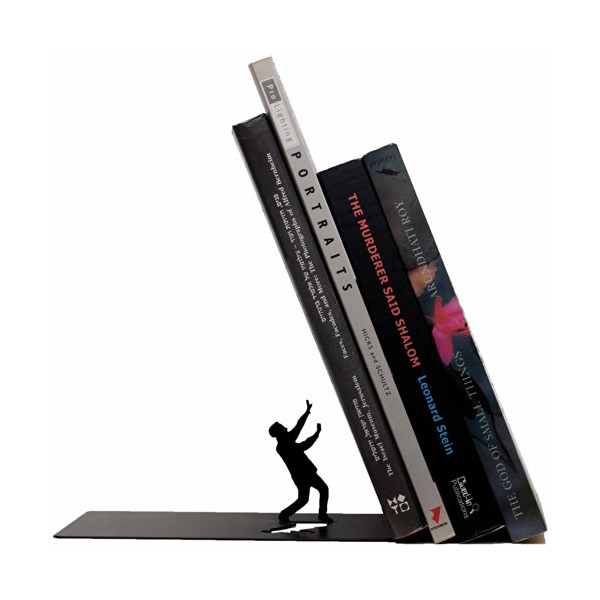 Falling Bookend with Silhouette Danger Man
