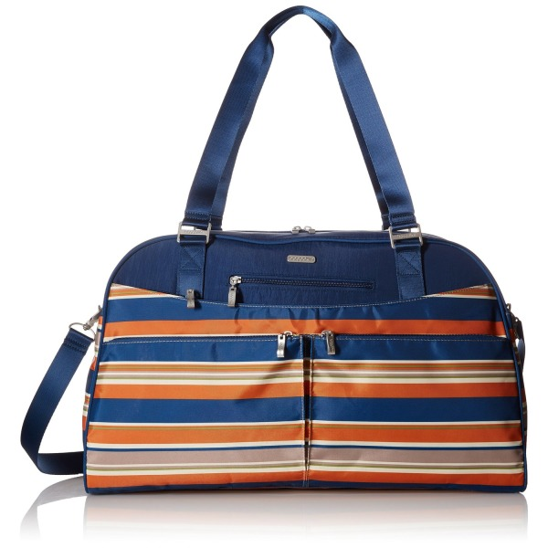 Baggallini Weekender Travel Tote Bag, Pacific Stripe, One Size