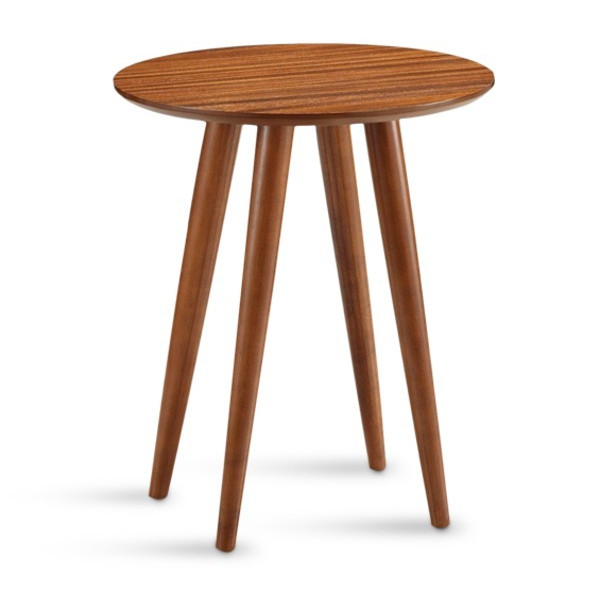 Boraam Zebra Series Varberg Side Table, Honey Oak