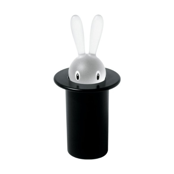 A Di Alessi Magic Bunny Toothpick Holder - Black