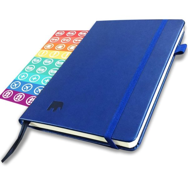 The Simple Elephant Planner - Best Daily & Weekly Agenda to Achieve Your Goals & Live Happier in 2018 - Gratitude Journal, Mindmap & Vision Board - Undated - Lasts 1 Year w/BONUS Stickers & eBooks