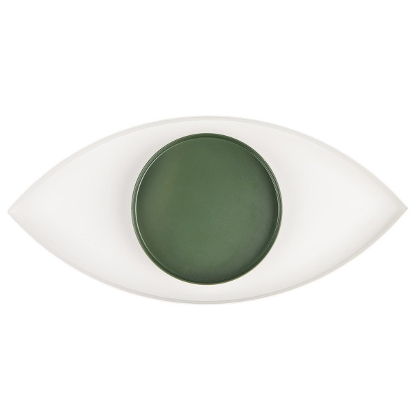 The Eye Metal Tray, Green and White