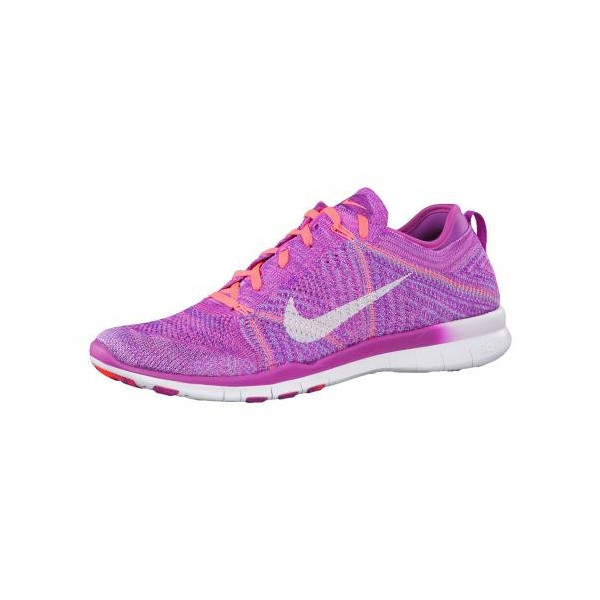 Nike Womens Free TR Flyknit Training Shoes Fuchsia Flash Pink/Hot Lava/White 718785-500 Size 7.5