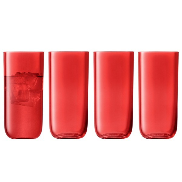 LSA Centro Set of 4 Berry Highball Tumblers