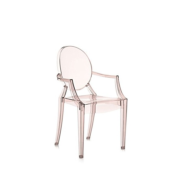 Kartell Louis Ghost Chair - Transparent Sunset Orange