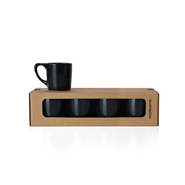 LINO Coffee Mug Gift Set of Four - in Matte Black