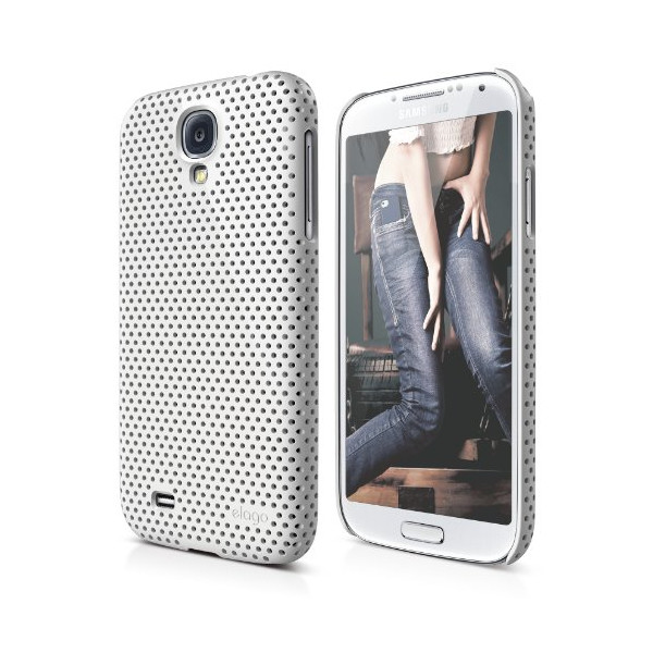 elago Galaxy S4 Case G7 Breathe - Eco Friendly Retail Packaging - Made in Korea (White)