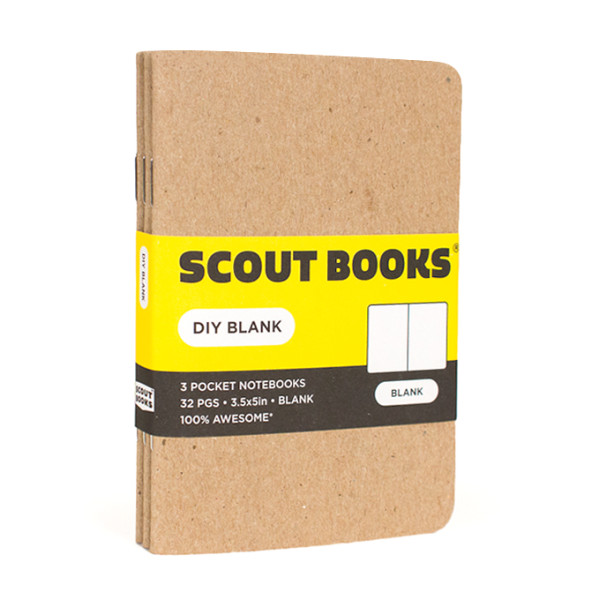 """Scout Books DIY Blank Notebook 3 Pack (3.5"""" x 5"""")"""