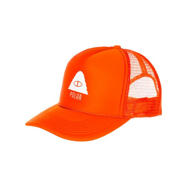 Poler Cyclops Trucker Hat Solid Orange, One Size